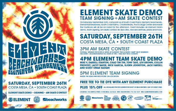 Element Demo This Weekend