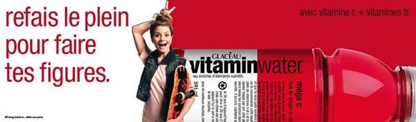 Anne-Sophie Vitamin Water Ad
