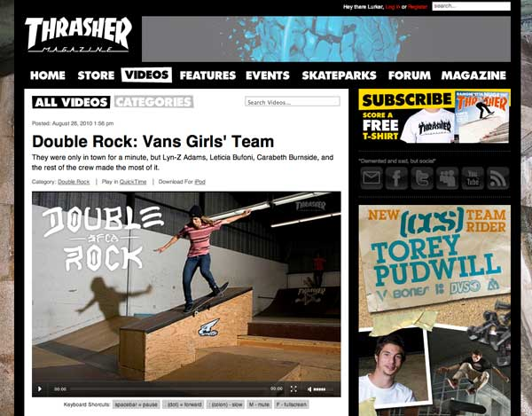 Thrasher | Double Rock: Girls In The Park