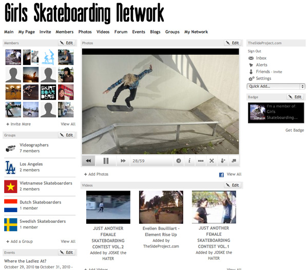 Girls Skateboarding Network