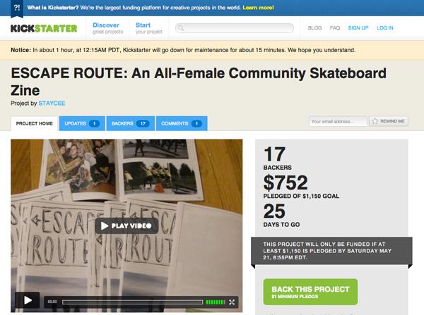 Escape Route On Kickstarter