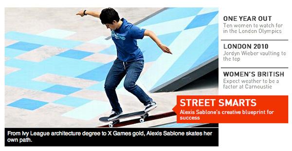 Alexis Sablone Featured On ESPNW