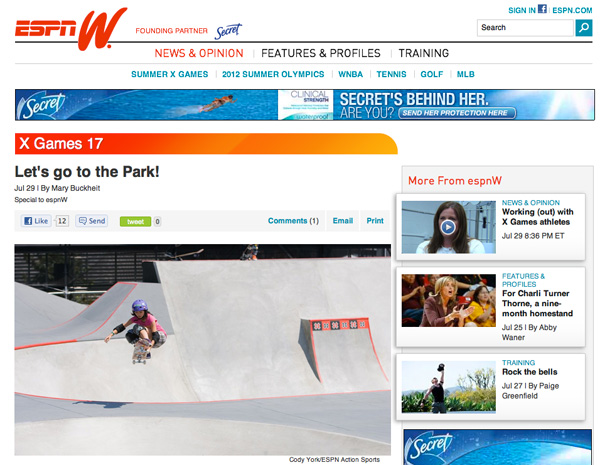 Can Park Replace Women's Vert At The X Games?