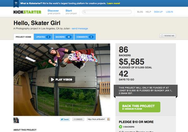 Hello, Skater Girl Kickstarter