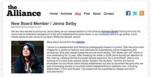 Jenna Joins The Alliance