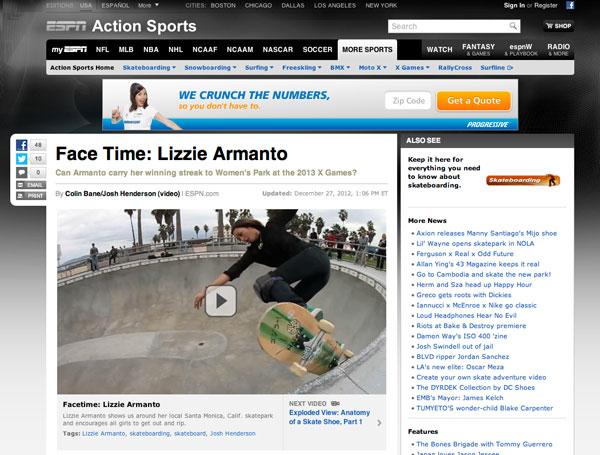 ESPN | Face Time: Lizzie Armanto