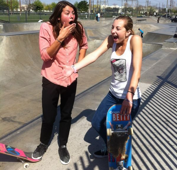 Barbie And Teresa Skate Chino Skatepark