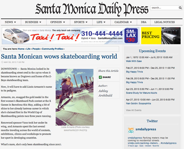 Lizzie Armanto – Santa Monica Daily Press