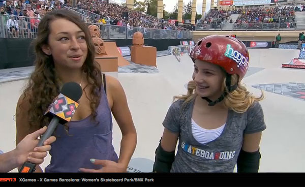 X Games Barcelona Women's Park Results 2013