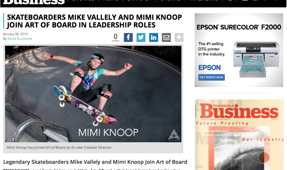 Transworld | Mimi Knoop Joins Art of Board