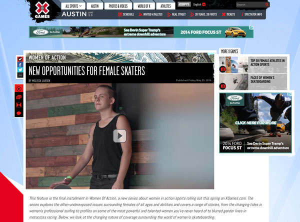 New Opportunities For Female Skaters
