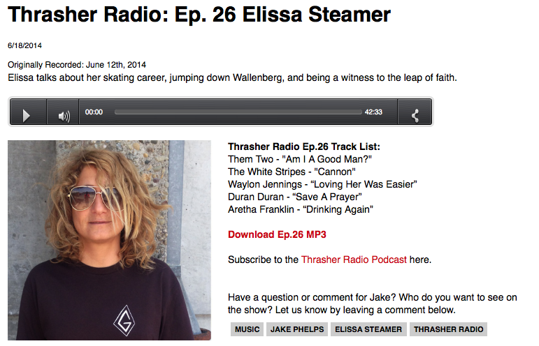 Thrasher Radio: Ep. 26 Elissa Steamer