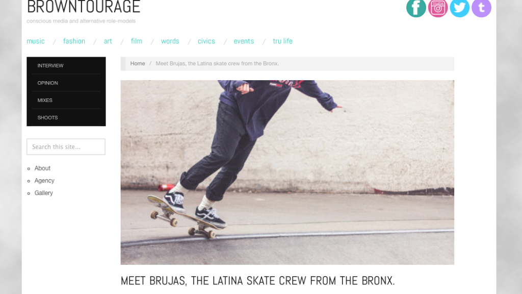 Latina Skate Crew From The Bronx