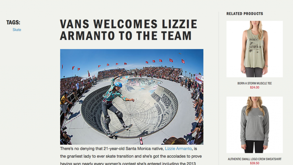 Vans Welcomes Lizzie Armanto to the Team