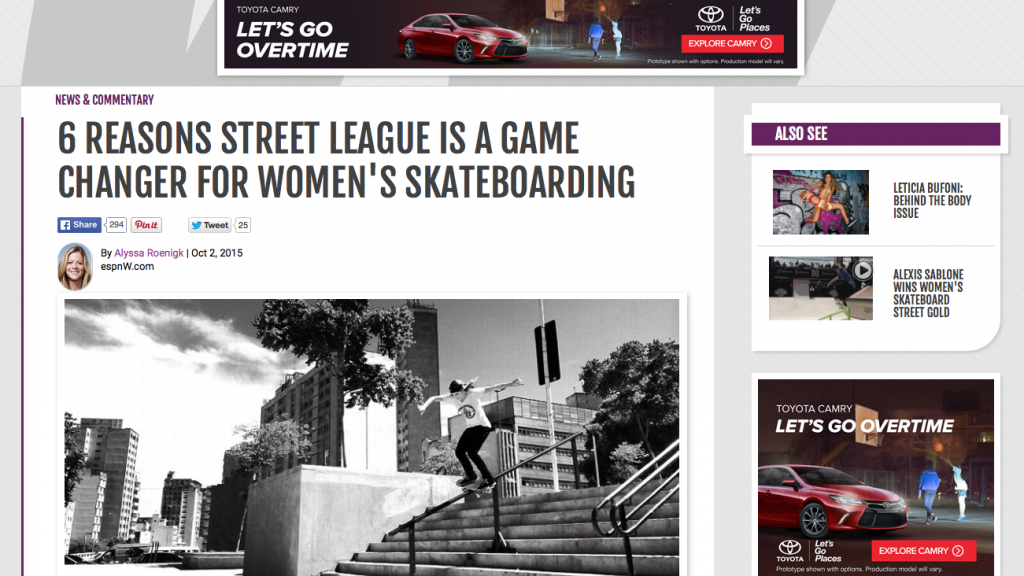 ESPNW | 6 Reasons Street League is a Game Changer for Women's Skateboarding