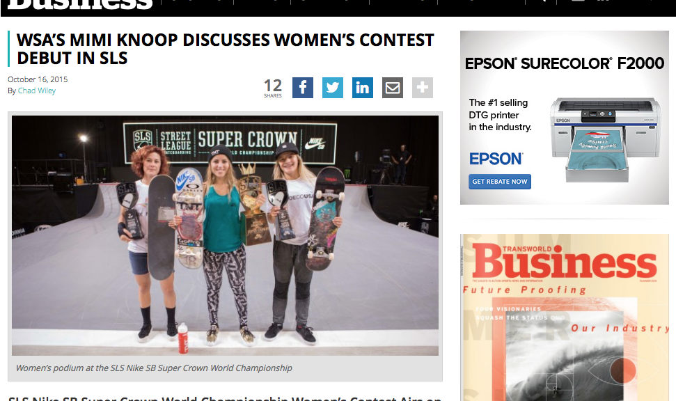 Transworld | Mimi Knoop Discusses Women's Contest Debut in SLS
