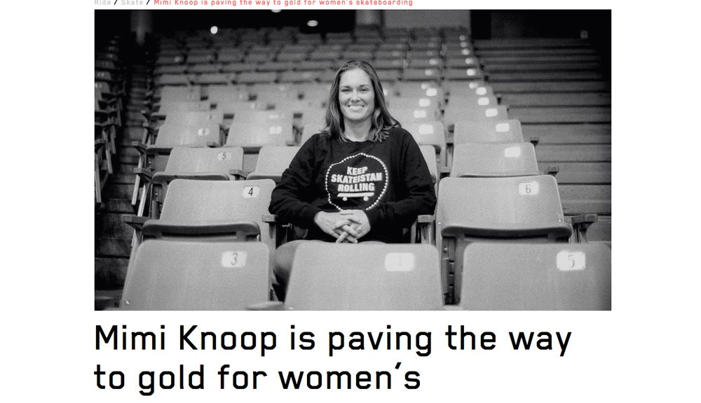 Huck | Mimi Knoop is paving the way to gold for women's skateboarding