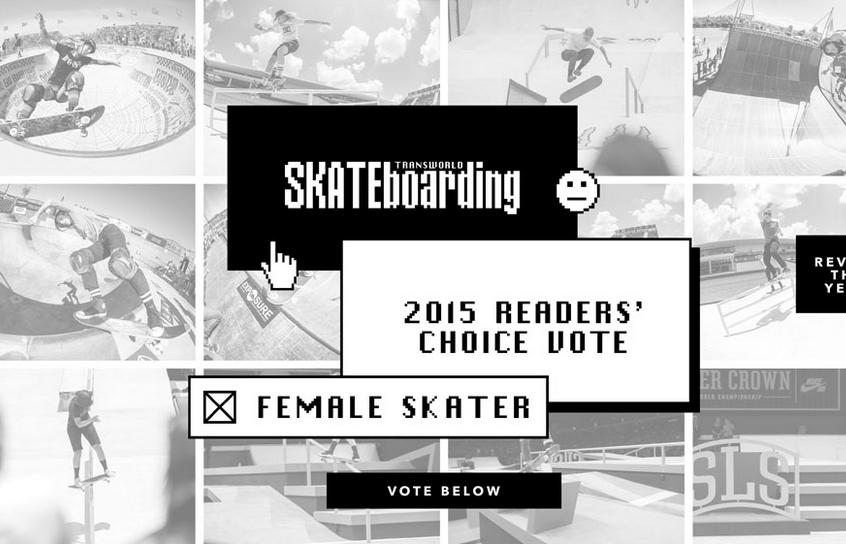 Transworld | 2015 Readers' Choice Female Skater
