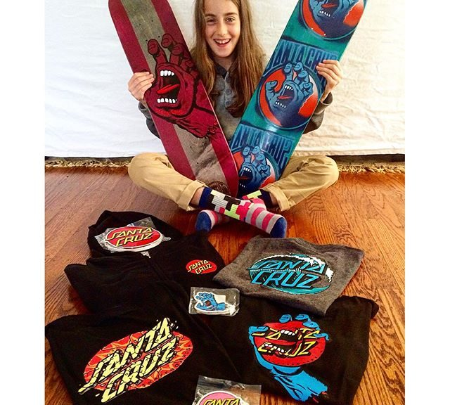 Minna Stess on Santa Cruz Skateboards