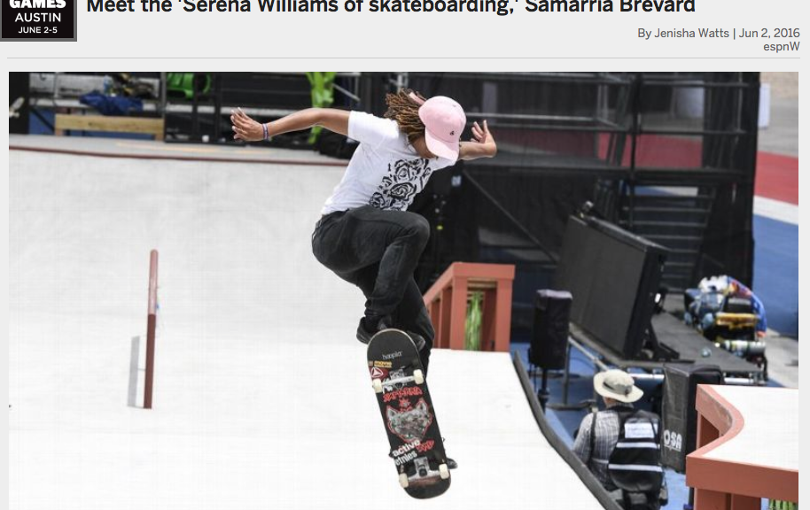 "ESPN | Meet the ""Serena Williams of skateboarding"""
