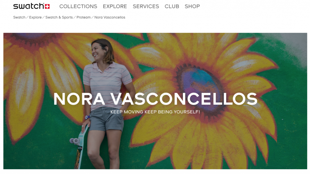 Swatch Welcomes Nora Vaconcellos to Pro Team