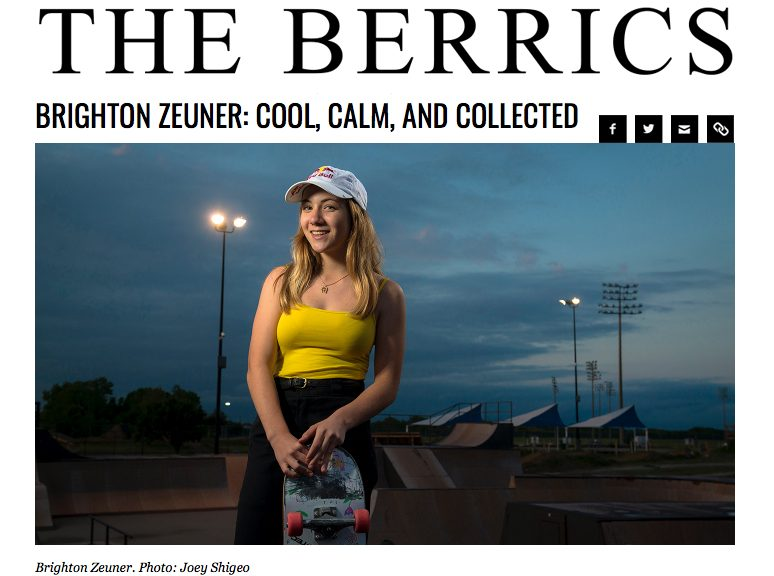 The Berrics | Brighton Zeuner Interview