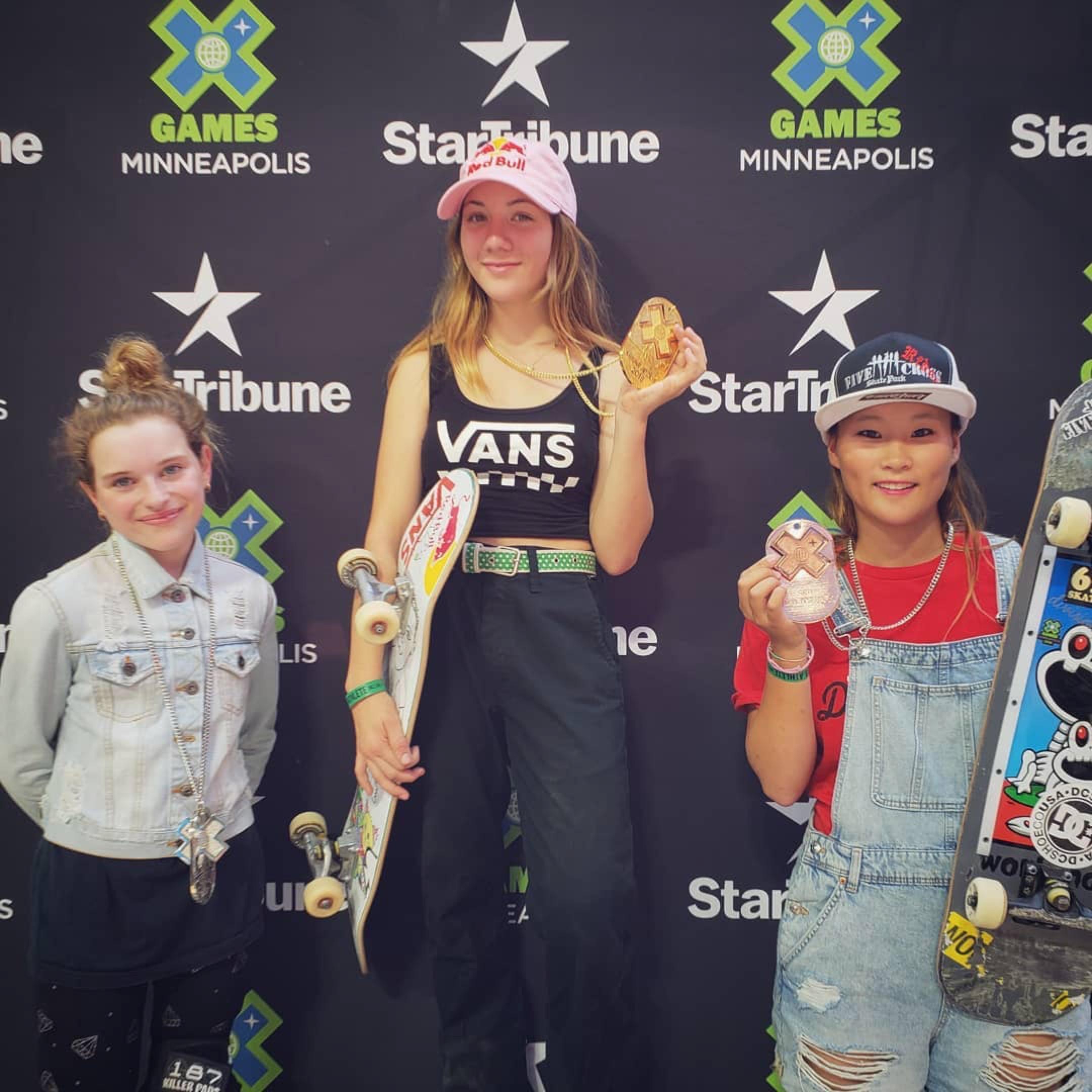 X Games Women's Park Podium 2018
