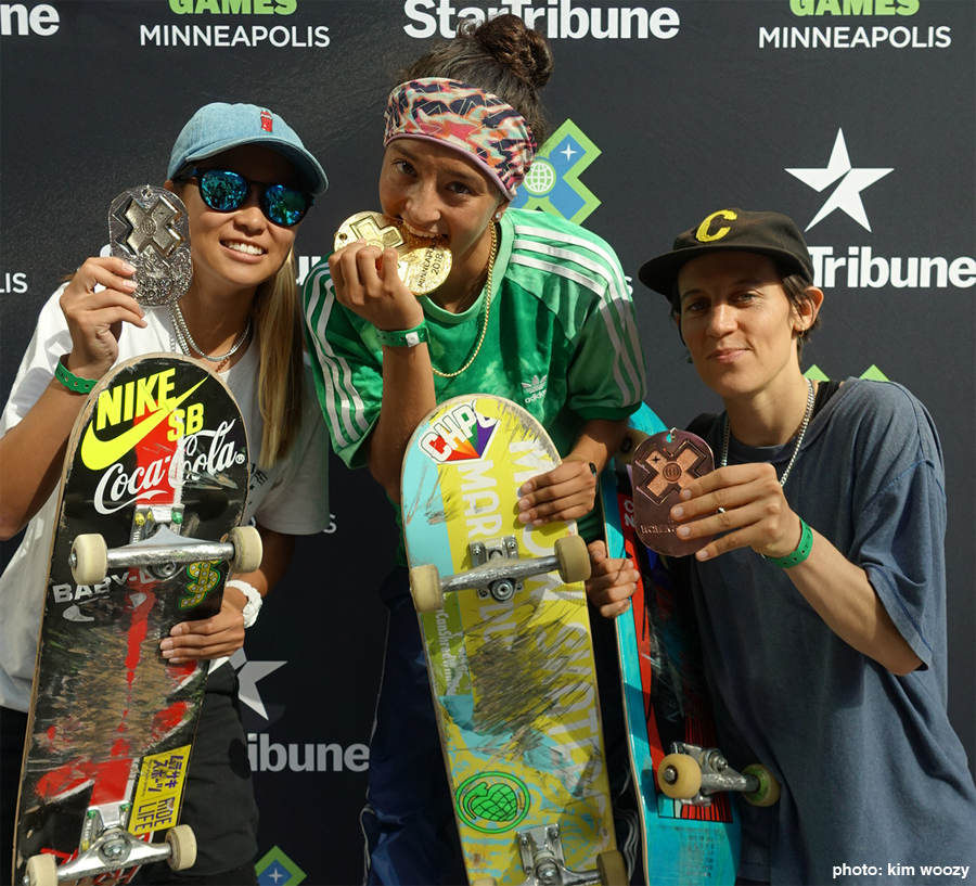X Games Women's Street Podium