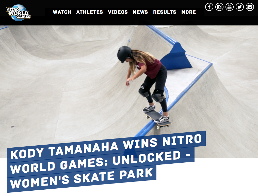 Kody Tamanaha Nitro World Games Unlocked