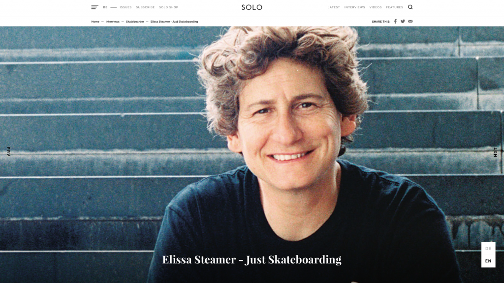 SOLO Mag | Elissa Steamer Interview