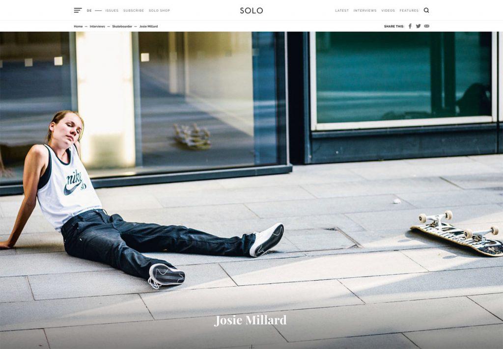 Solo Skate Mag Josie Millard