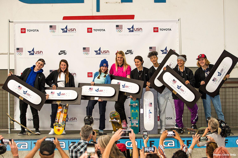 USA Skateboarding Olympic National Team Women