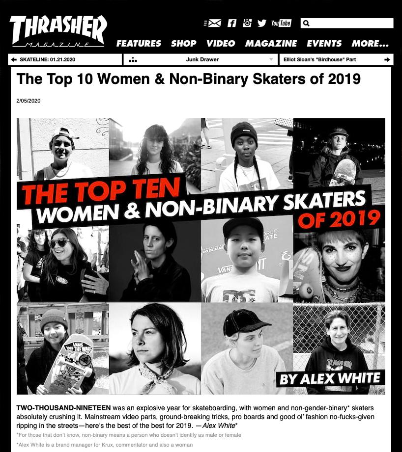 Thrasher top 10 women 2019