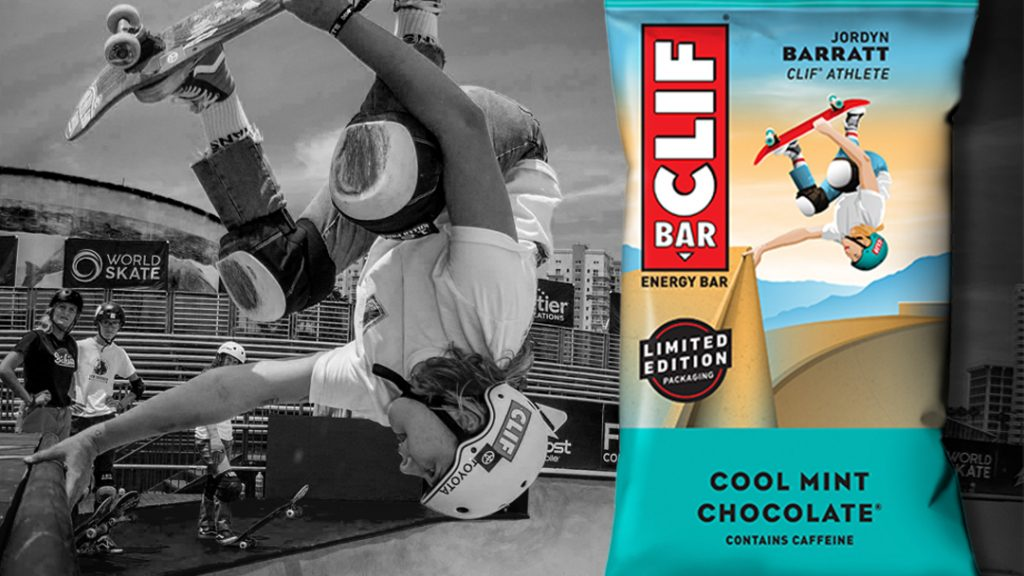 Jordyn Barratt Featured On Clif Bar Packaging