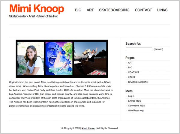 Mimi Knoop Site Up