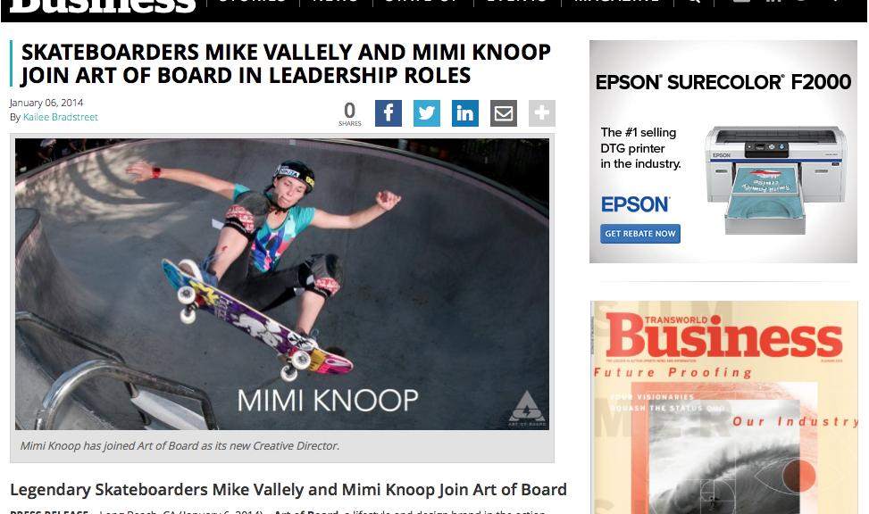 Transworld | Mimi Knoop Joins Art of Board
