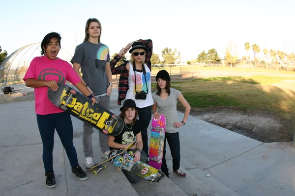 Skirtboarders In Chino