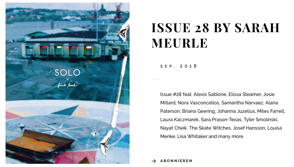 SOLO Mag | Issue 28 by Sarah Meurle